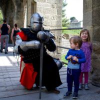 Once upon a time…Carcassonne castle with kids