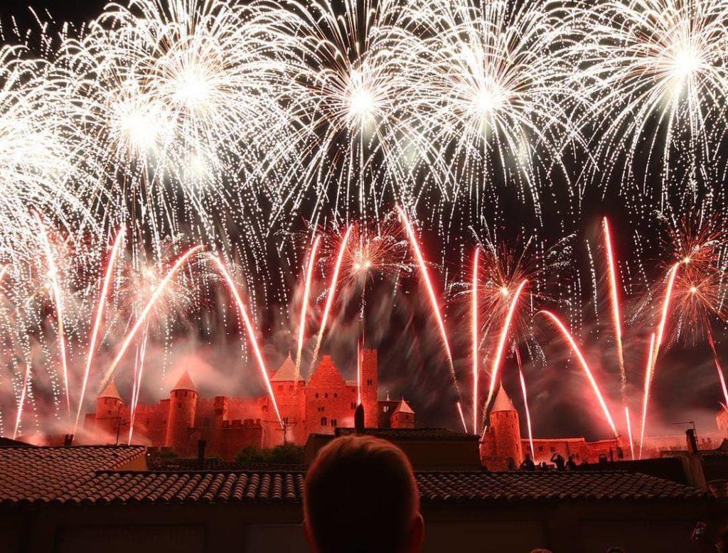 feu artifice cité carcassonne